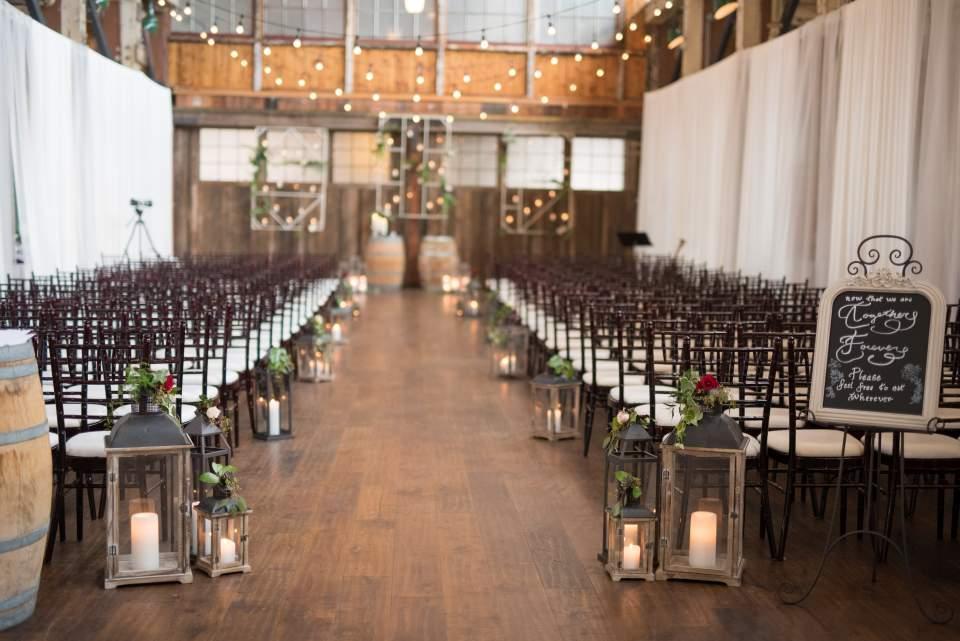 sodo park set up for wedding ceremony