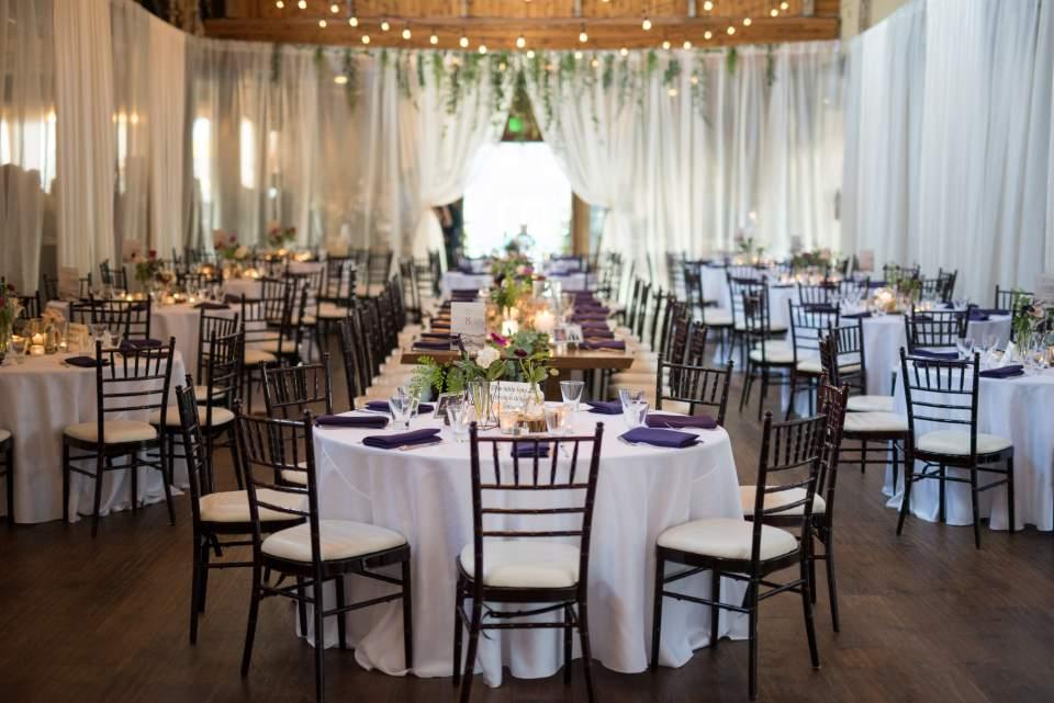 sodo park set up for wedding reception