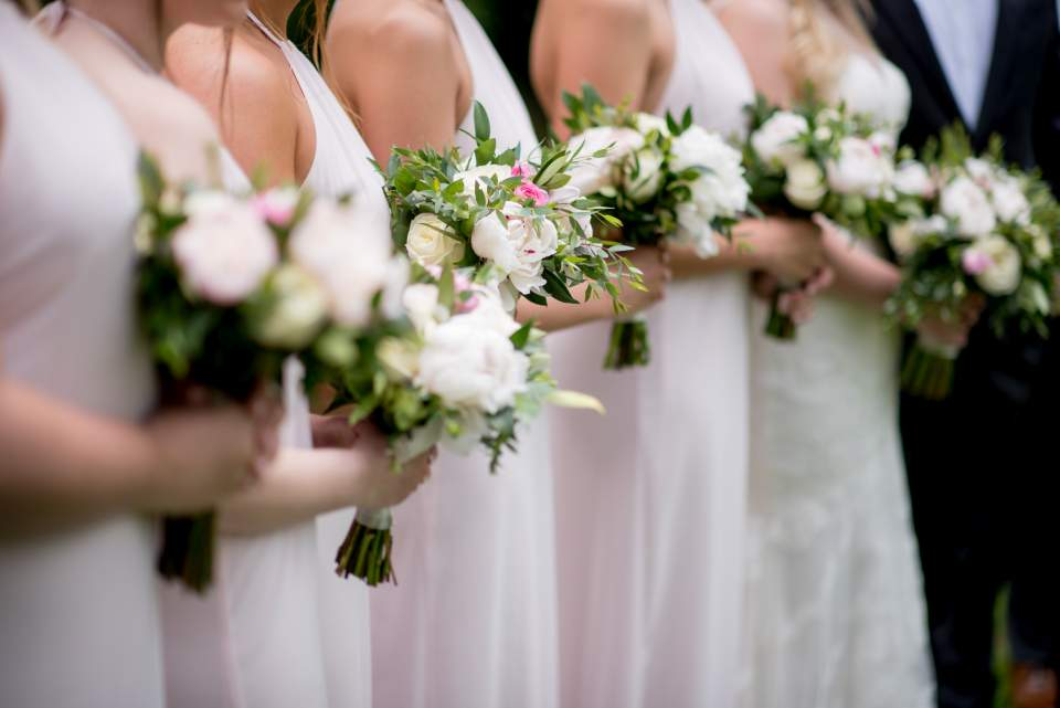 soft pink and white flowers for spring wedding