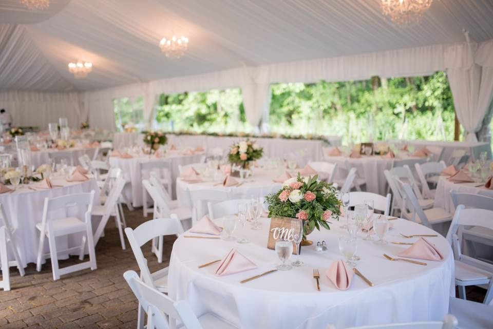 tent reception at rock creek gardens