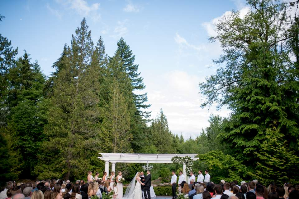 wedding ceremony at rock creek gardens
