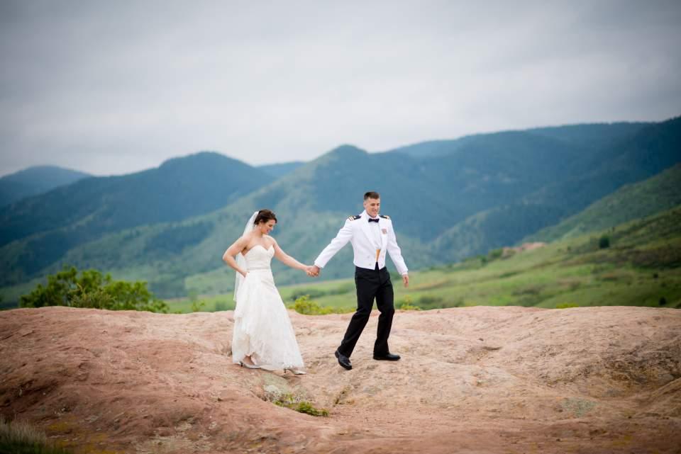 adventurous bride and groom in denver colorado