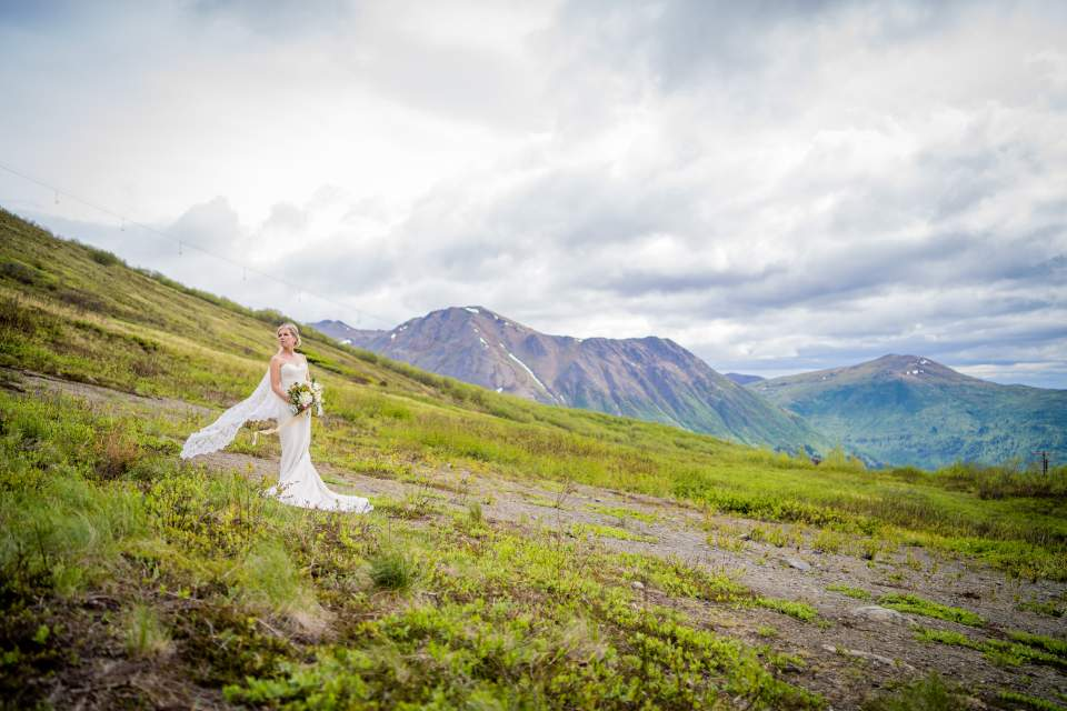 adventurous bride mountain wedding