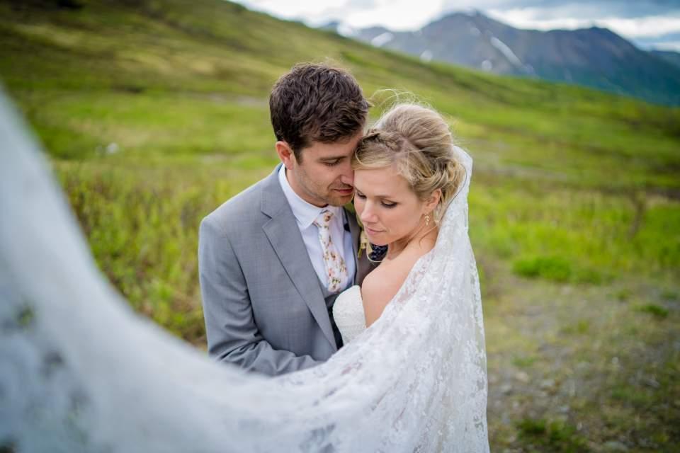 adventurous mountain wedding in alaska