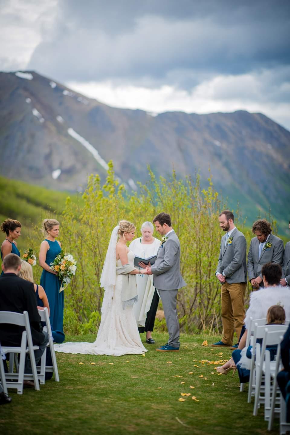 anchorage alaska mountain wedding
