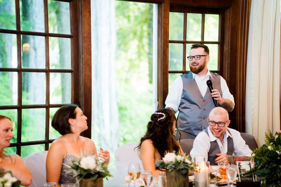 best man toast wedding lake quinault lodge