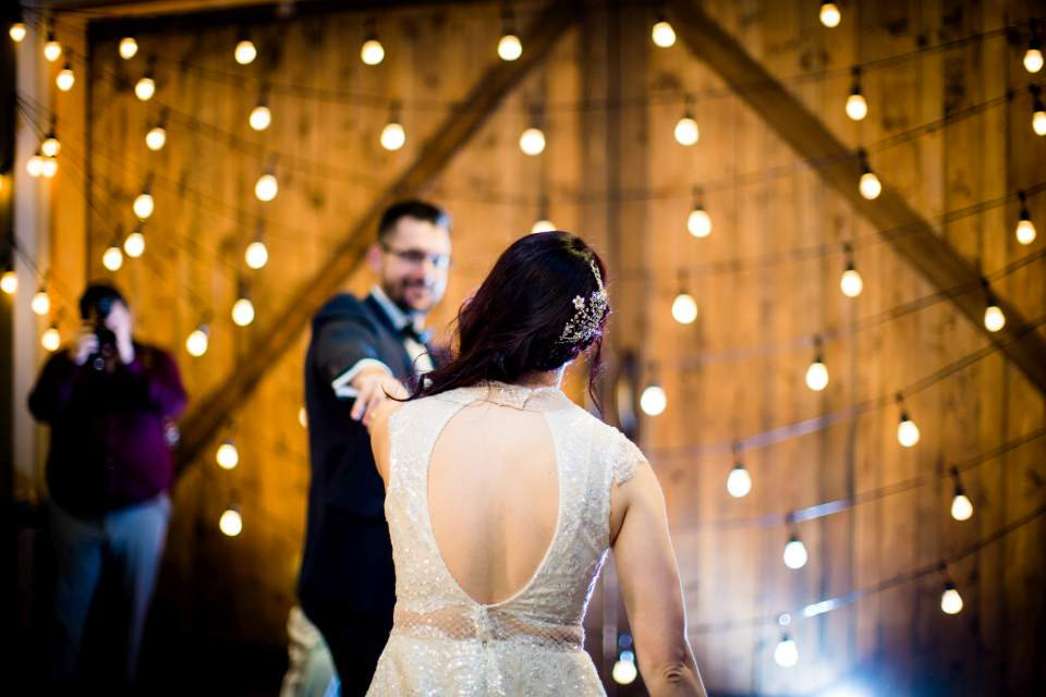 bride and groom first dance the foundry wedding