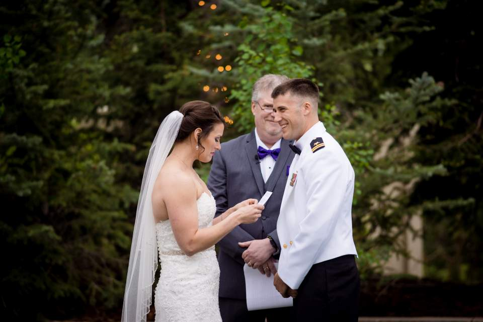 bride and groom personal vows