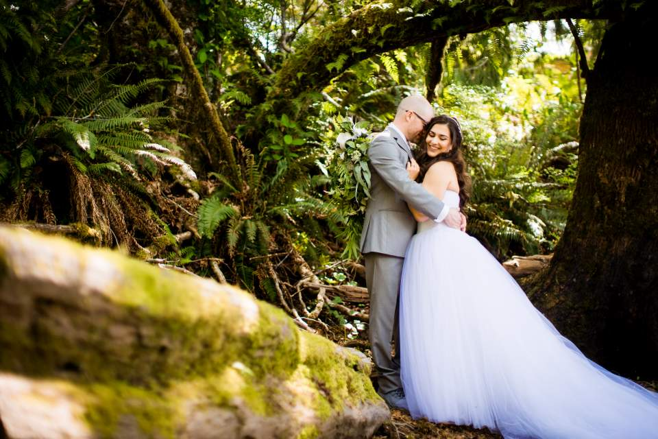 bride and groom romantic photos olympic national park seattle wedding photographers