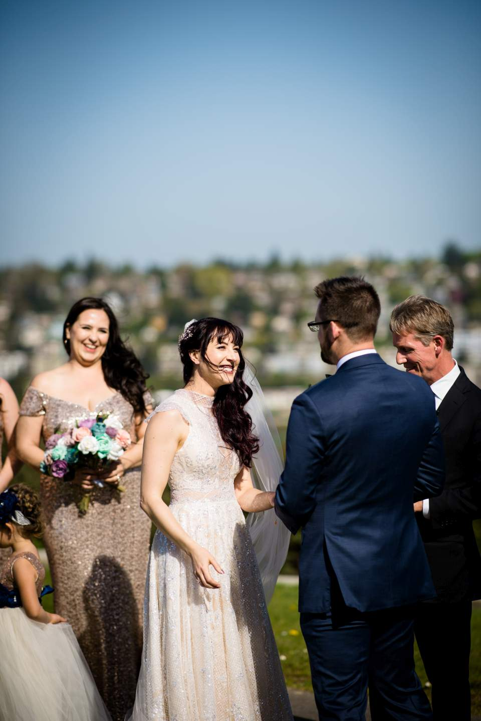 bride saying vows to groom