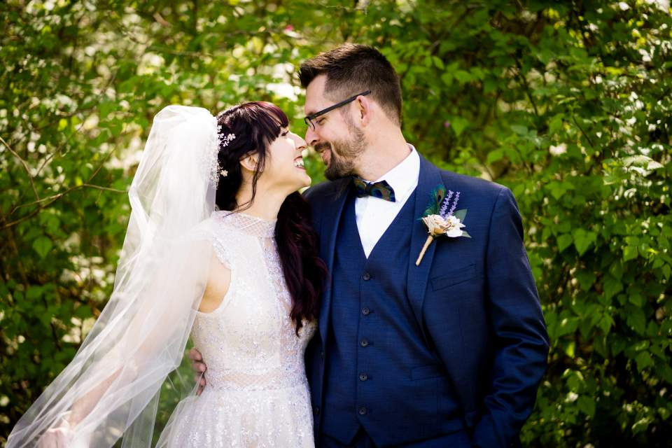 classic couples portraits on wedding day