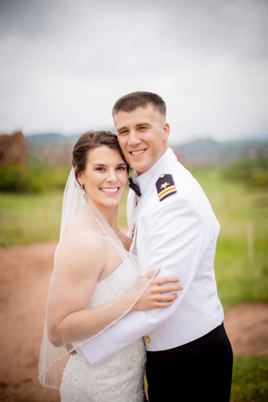 classic wedding photo of bride and groom