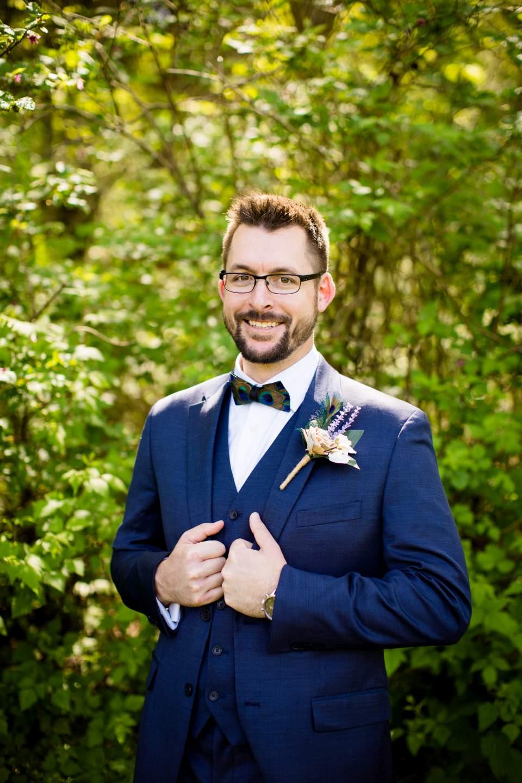dapper groom photo