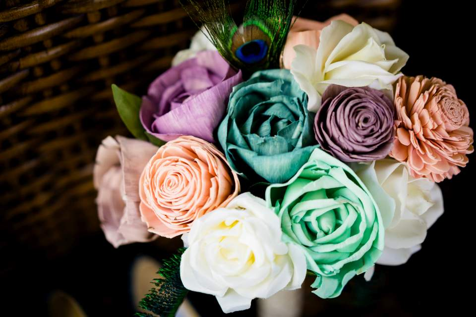 diy sola wood flower bouquet