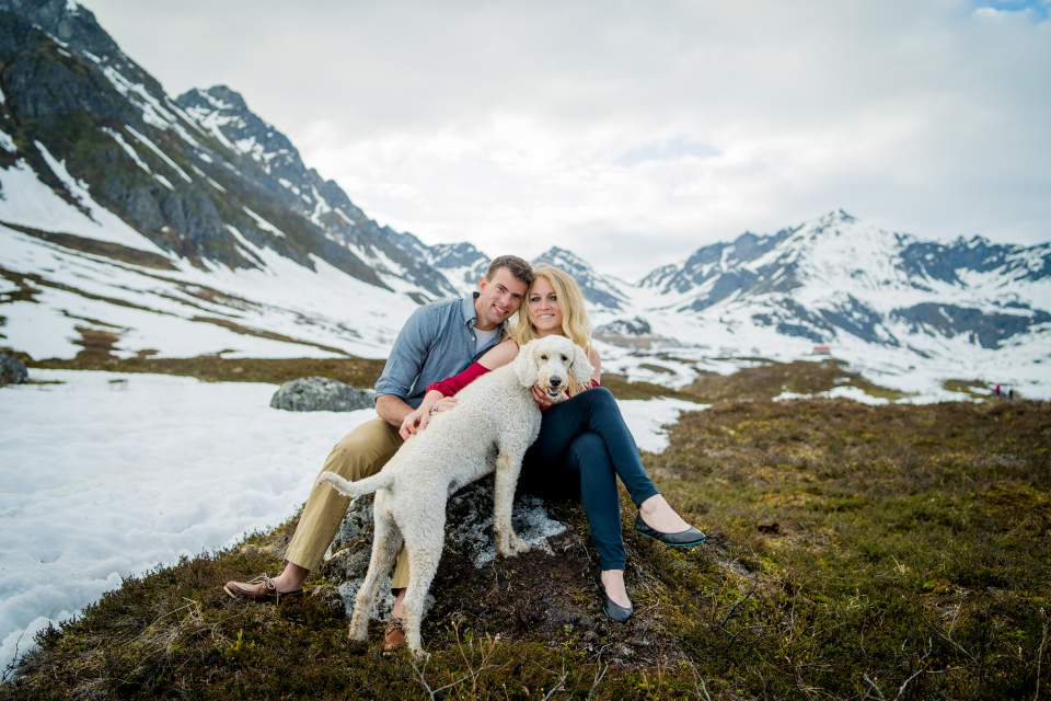family photo at hatcher pass