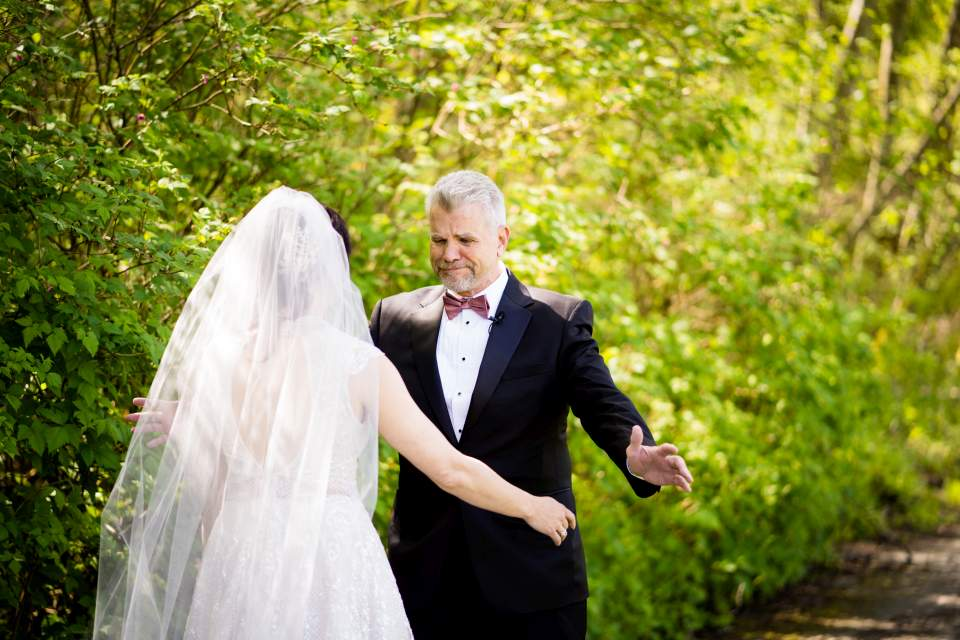 first look with brides father