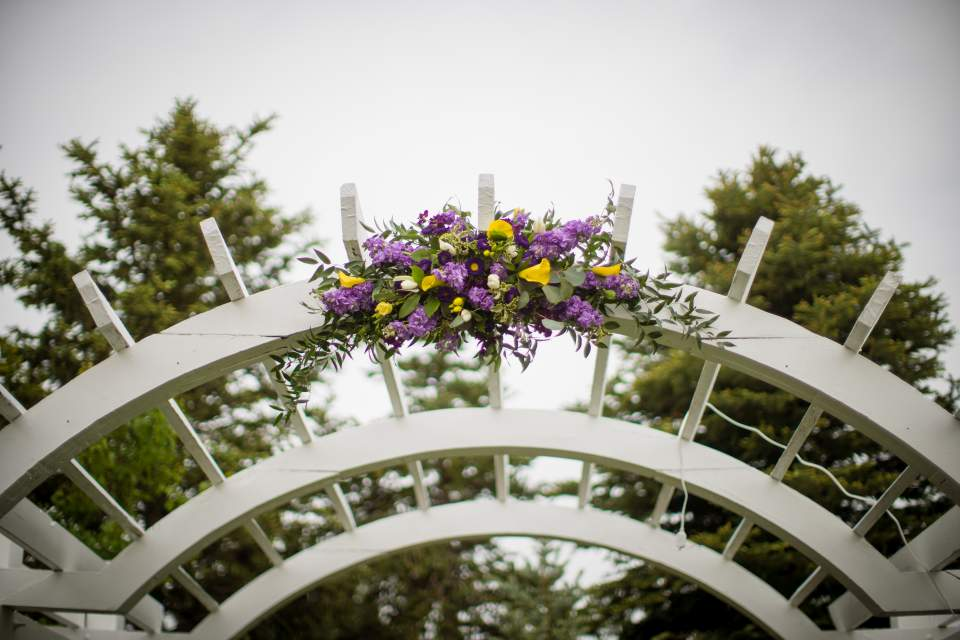 floral wedding arch at wedgewood ken caryl