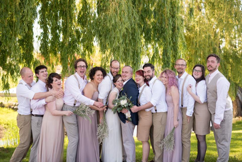 fun non traditional wedding party photos