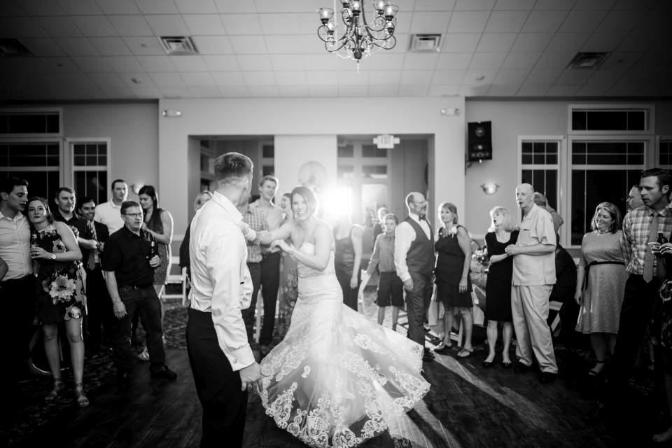 fun party photos of the wedding reception dancing