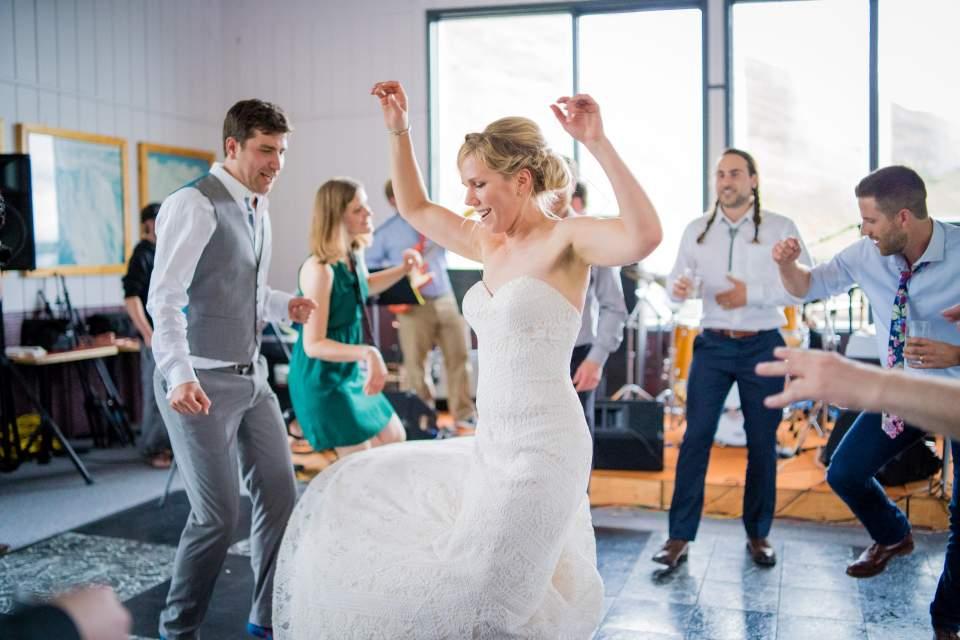 fun wedding reception dance photos