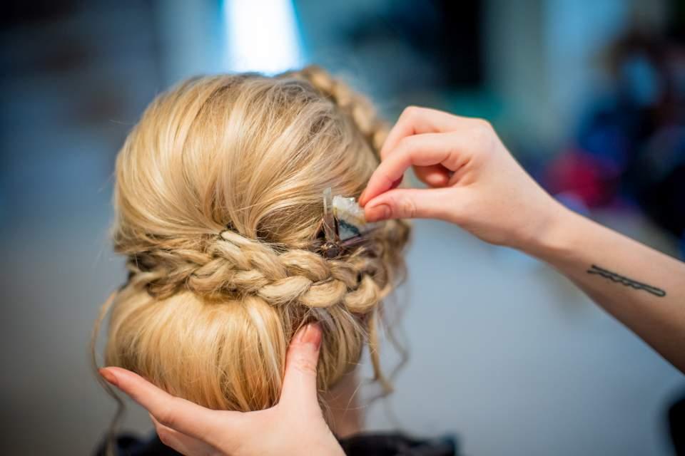 geode wedding hair piece
