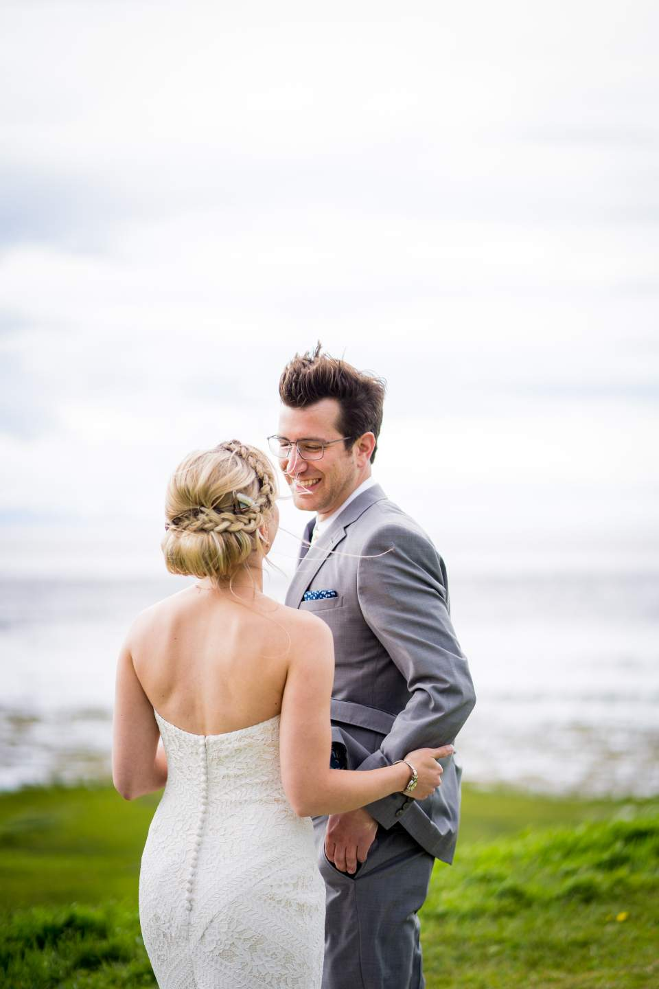 grooms reaction to seeing bride during first look