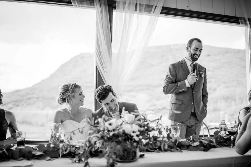groomsmen giving toast