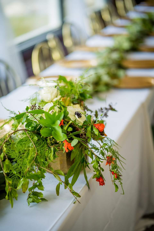head table wedding reception decor