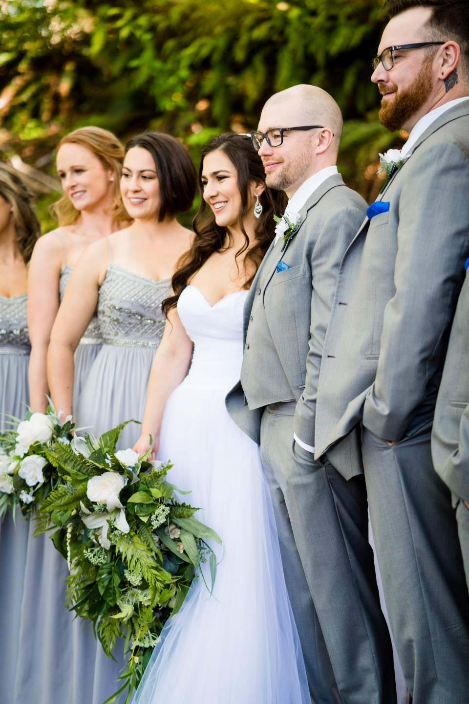 lake quinault lodge wedding party candid photos