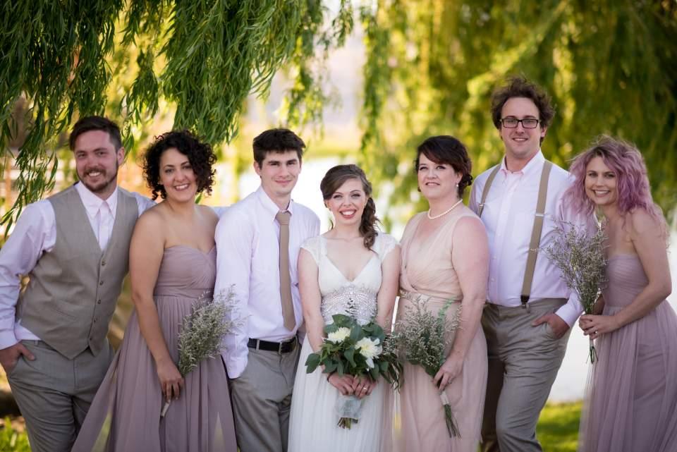 mismatched brides party
