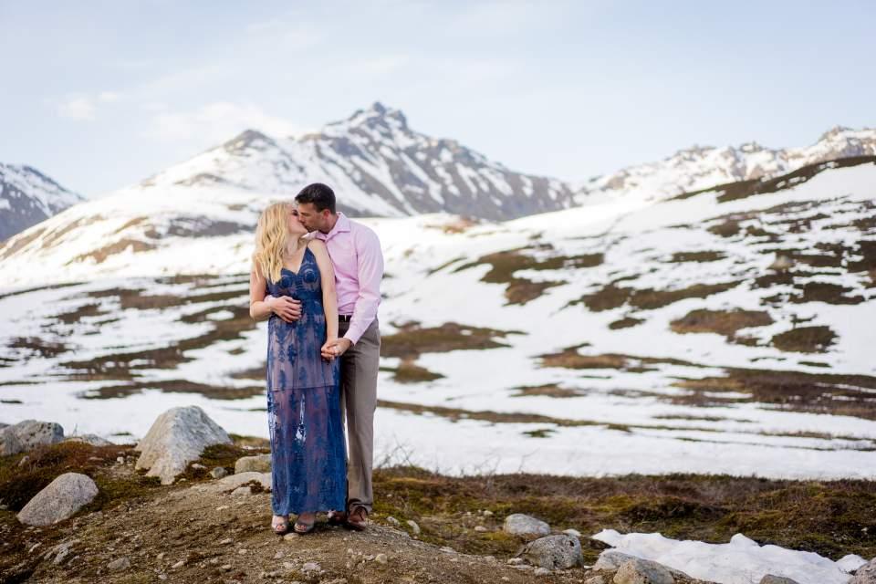 mountain adventure session in alaska