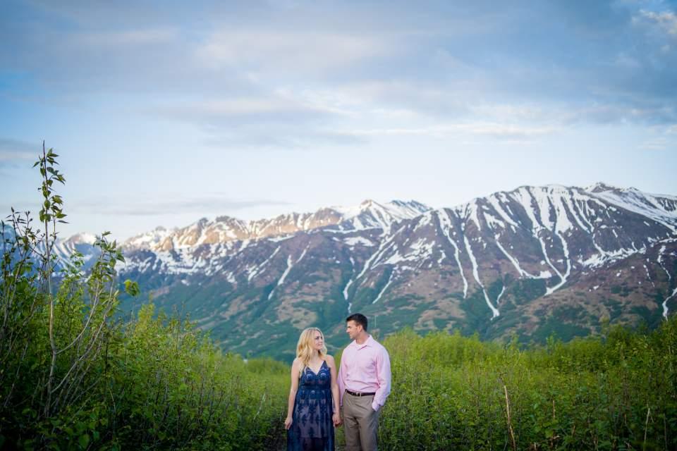 mountain couples photos in alaska