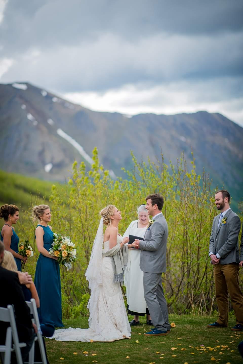 mountain wedding ceremony in alaska