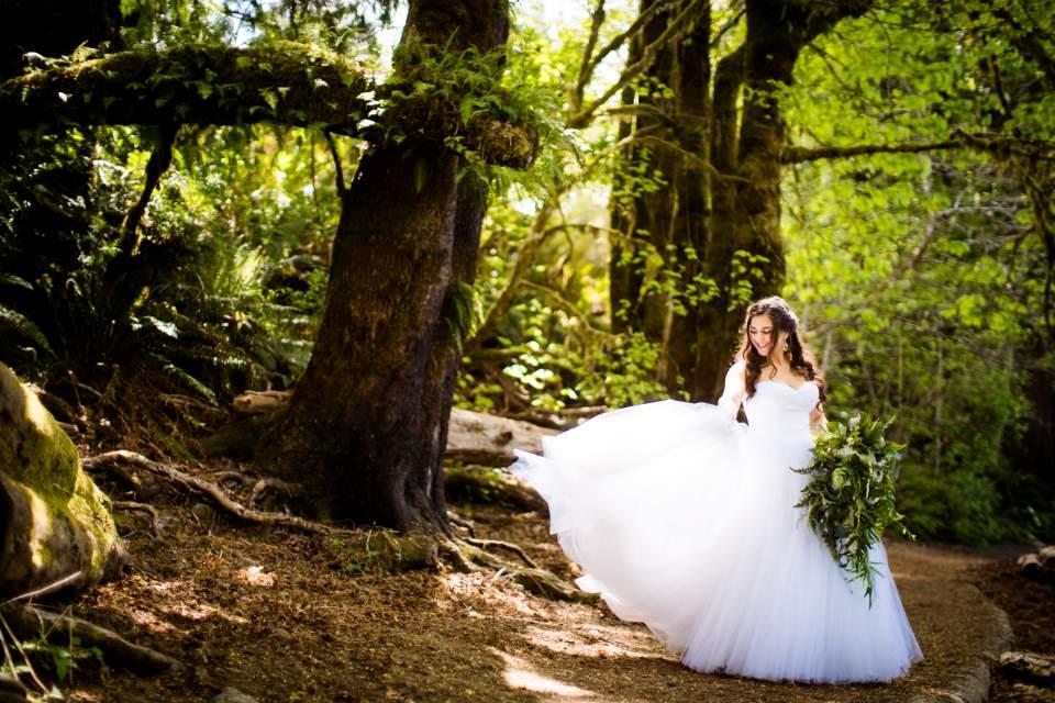 princess bride twirling dress rain forest lake quinault lodge