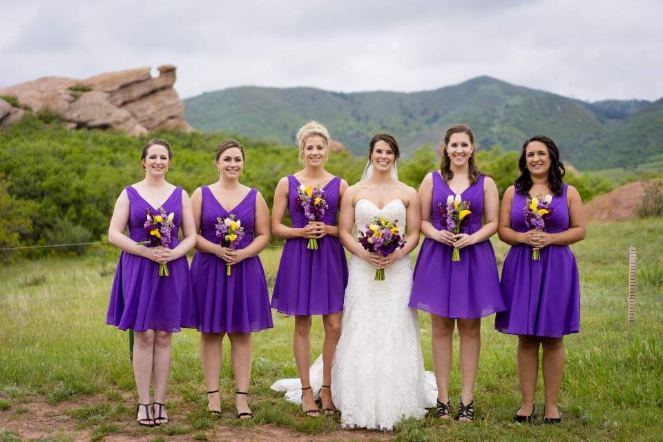 purple spring bridesmaids dresses