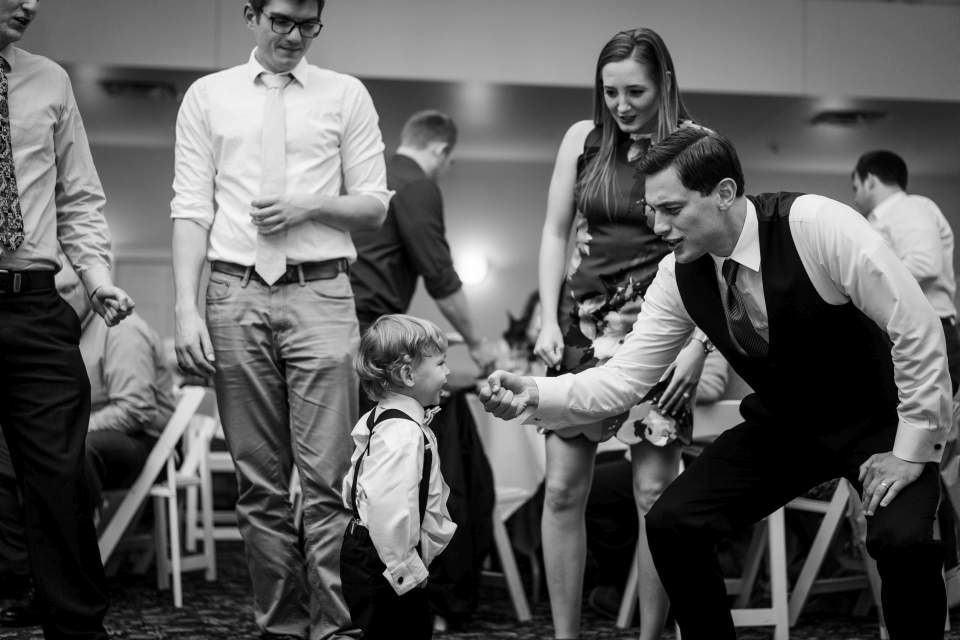 ring bearer on dance floor
