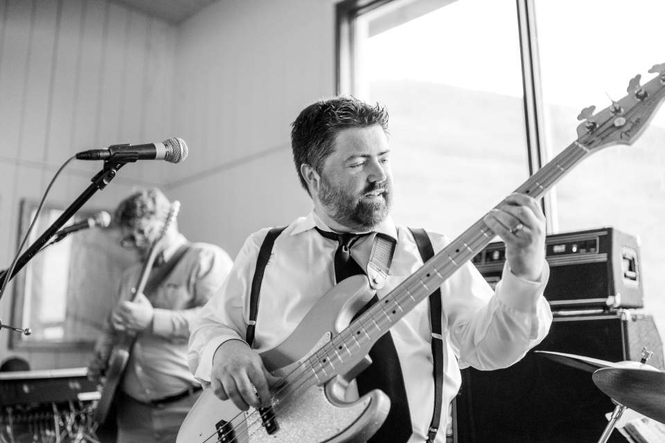 seattle band playing at alaska wedding