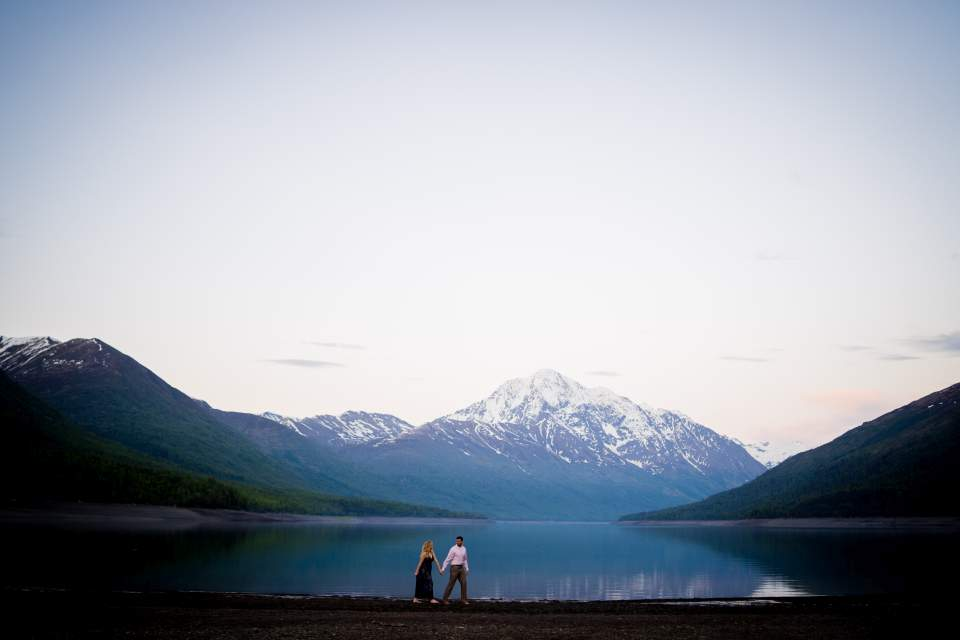 spring photos at lake eklutna