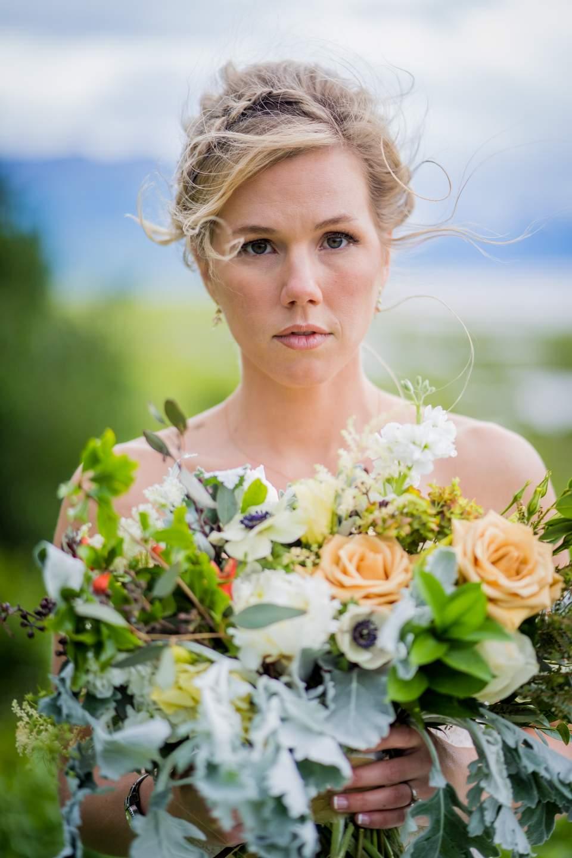 stoic portrait of bride
