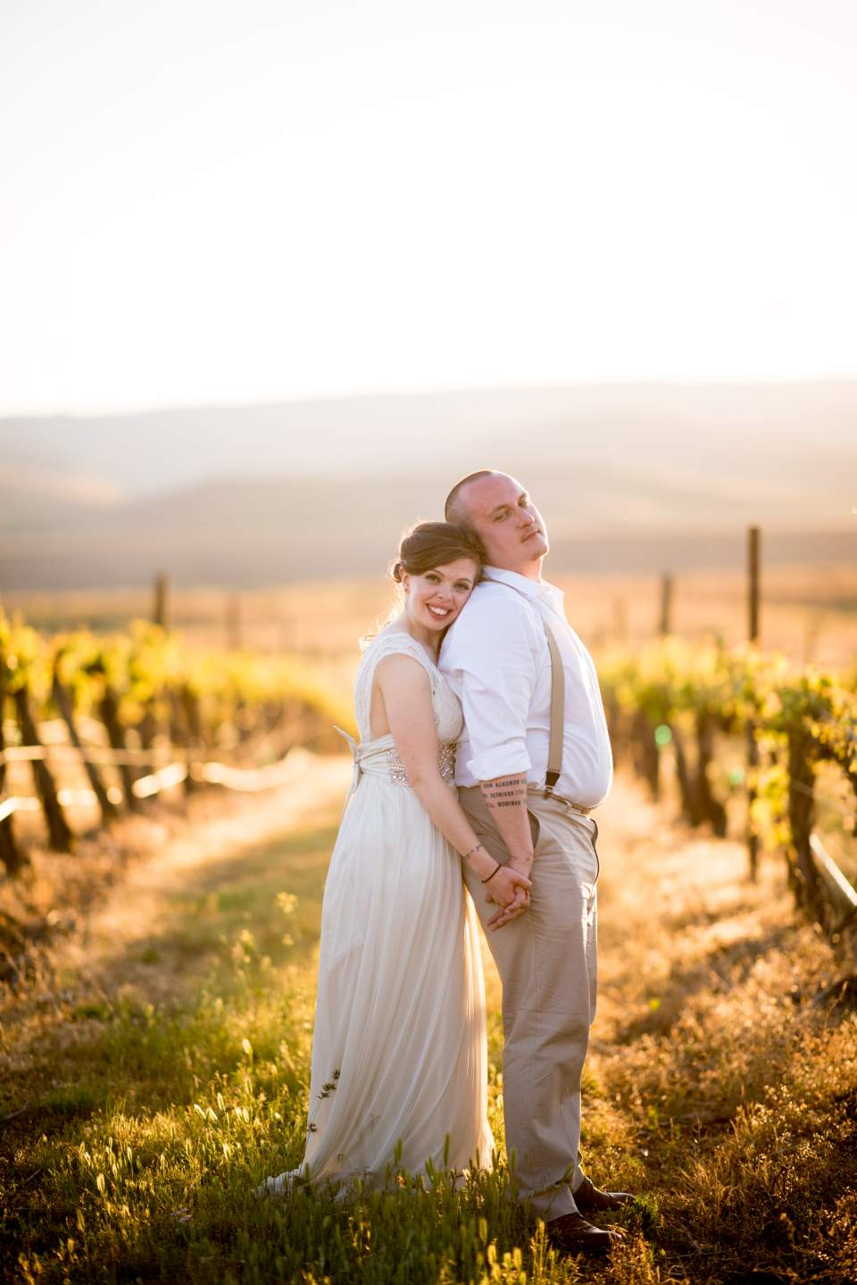 sunset winery wedding photos