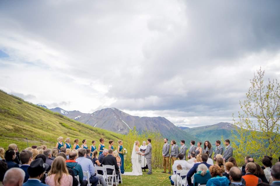 wedding ceremony at arctic valley
