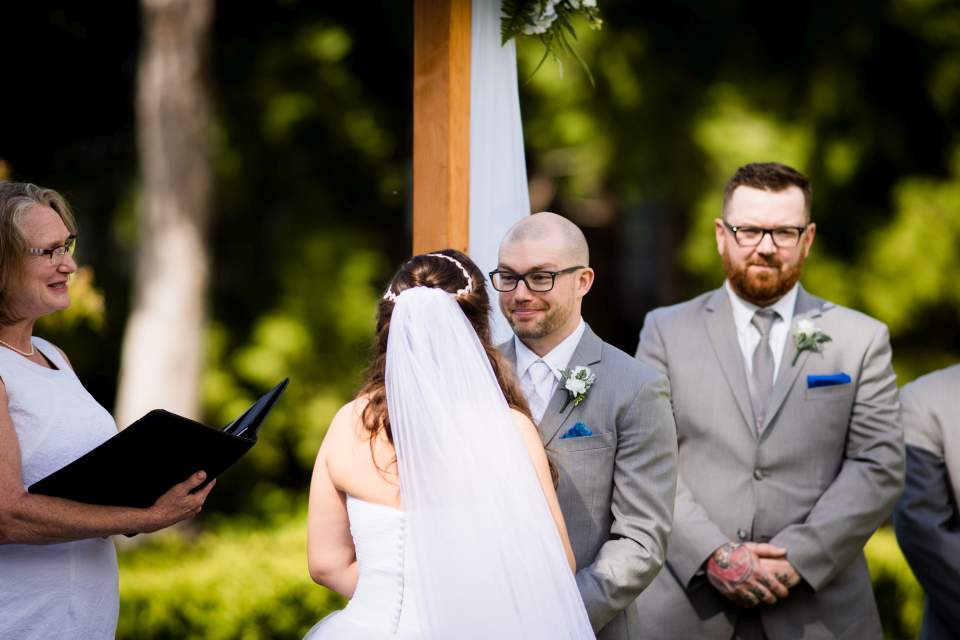 wedding ceremony lake quinault lodge vows