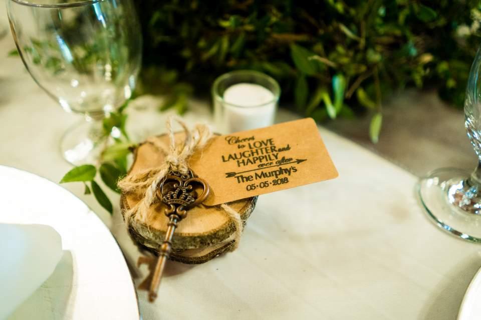 wedding favors rustic forest wedding