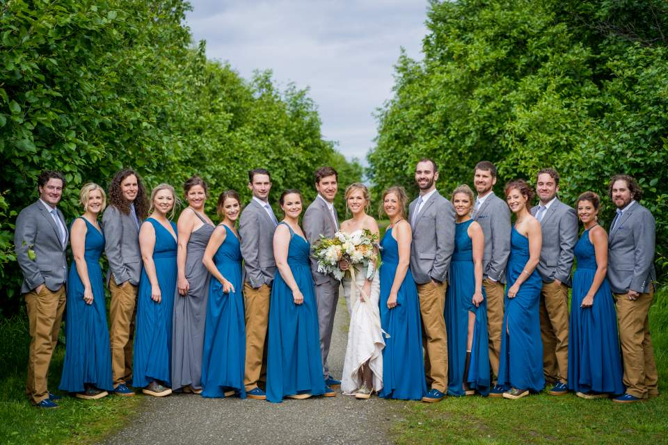 wedding party photo anchorage ak wedding