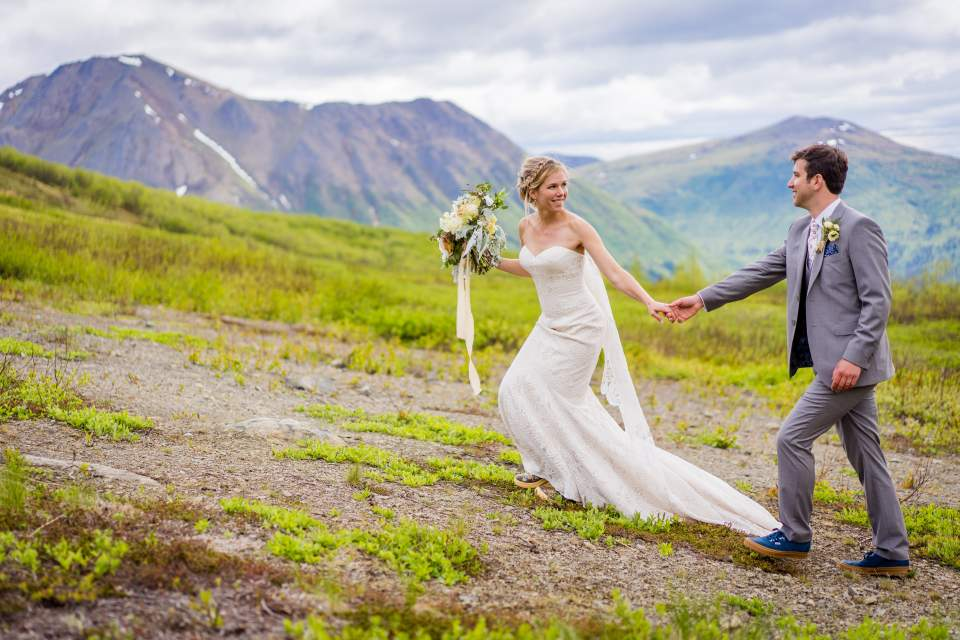 wedding photos at arctic valley