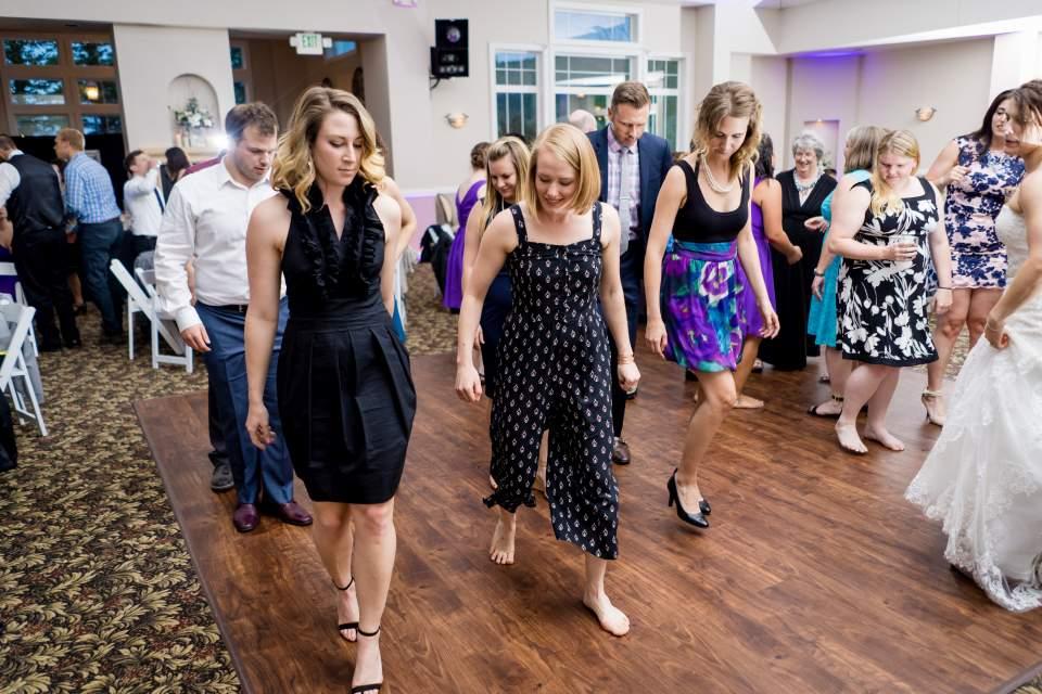 wedding reception dance floor at ken caryl