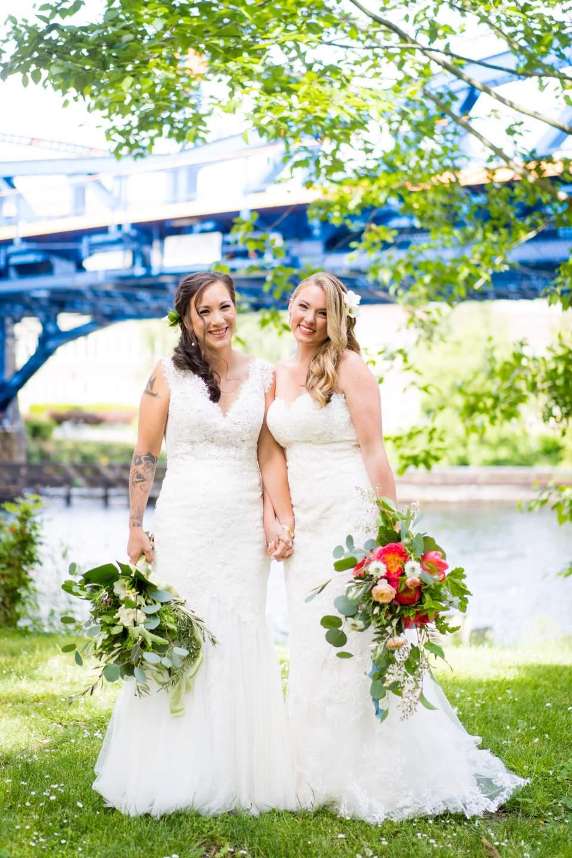 bridal portrait wedding day same sex wedding almquist family winery