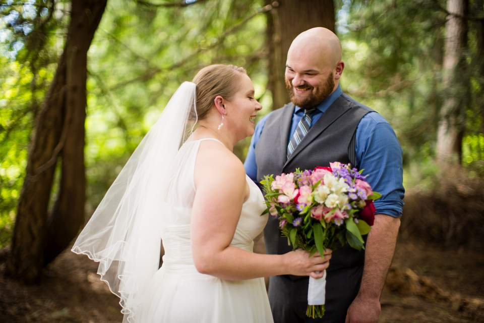 bride and groom cedar grove