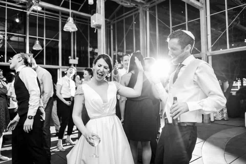 bride and groom on dance floor uw cuh wedding reception