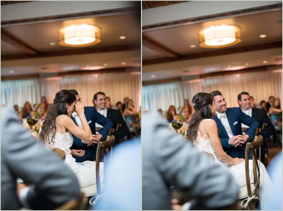bride and groom reactions to toasts 1